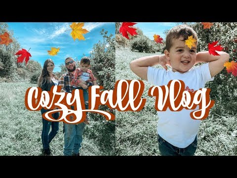 COZY FALL VLOG | APPLE PICKING & PUMPKIN PAINTING | DITL OF A STAY AT HOME MOM