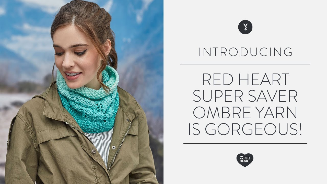 Red Heart Super Saver Ombre Yarn is Gorgeous!