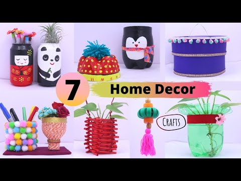 7 DIY Home Decor Craft projects From Plastic Bottles/ Easy Home decor Craft Ideas By Aloha Crafts