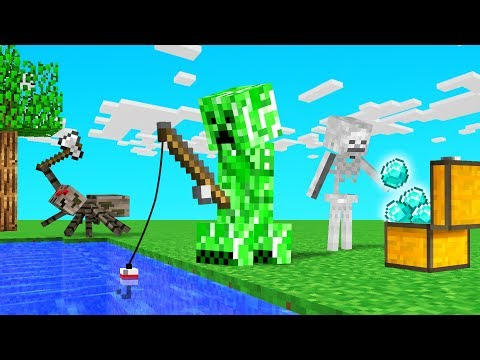 MINECRAFT But We're Playing As EVIL MOBS!