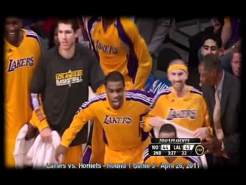 Game 5 Lakers vs. Hornets - Kobe Bryant Posterizes Okafor & Lefty Monster Dunk on Landry