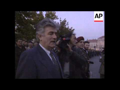 BOSNIA: SERB LEADER KARADZIC GUEST OF HONOUR AT TROOPS PARADE