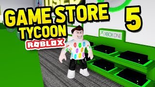 SELLING GAME CONSOLES - ROBLOX GAME STORE TYCOON #5
