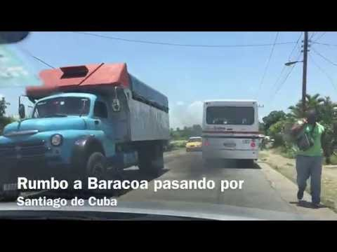 Baracoa, Guantanamo, Cuba antes del Huracan Matthew. 4K video.