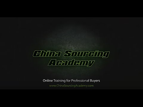 China Sourcing Academy Introduction