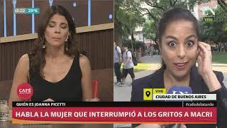 ¿Quién es la mujer que interrumpió a los gritos a Macri? Entrevista a Joanna Picetti