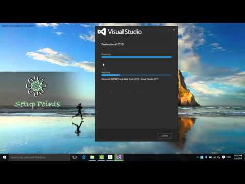 How to install Visual studio 2015 in windows 10