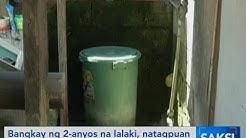 Saksi: Bangkay ng 2-anyos na lalaki, natagpuan sa loob ng plastic drum na may tubig