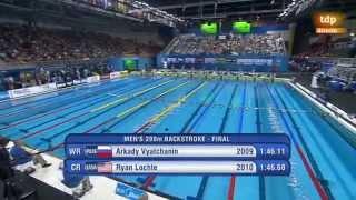 200 Espalda Kawecki 1,47,38 buceando 120m - Mundial Natacion Piscina 25 Doha 2014