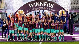 FULL UEFA WOMEN'S CHAMPIONS LEAGUE CELEBRATION! ❤️💙🎉🎉