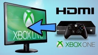 how to connect xbox one with hdmi and pc with dvi to pc monitor