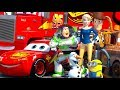 disney pixar cars meet toy story lightning mcqueen buzz lightyear amp woody animation short