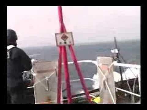 Sea Shepherd attacking Japanese whaling vessel 4