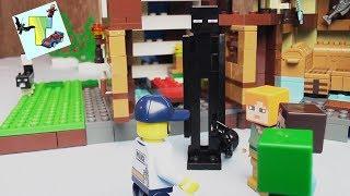 ENDERMAN VS STEVE Minecraft I LEGO 21134 BASE of the WATERFALL I ENDERMAN VS STEVE