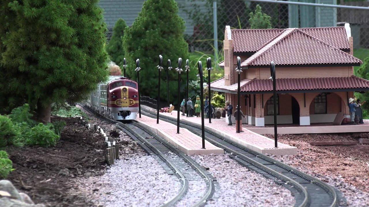 santa fe western garden railroad 2012 youtube