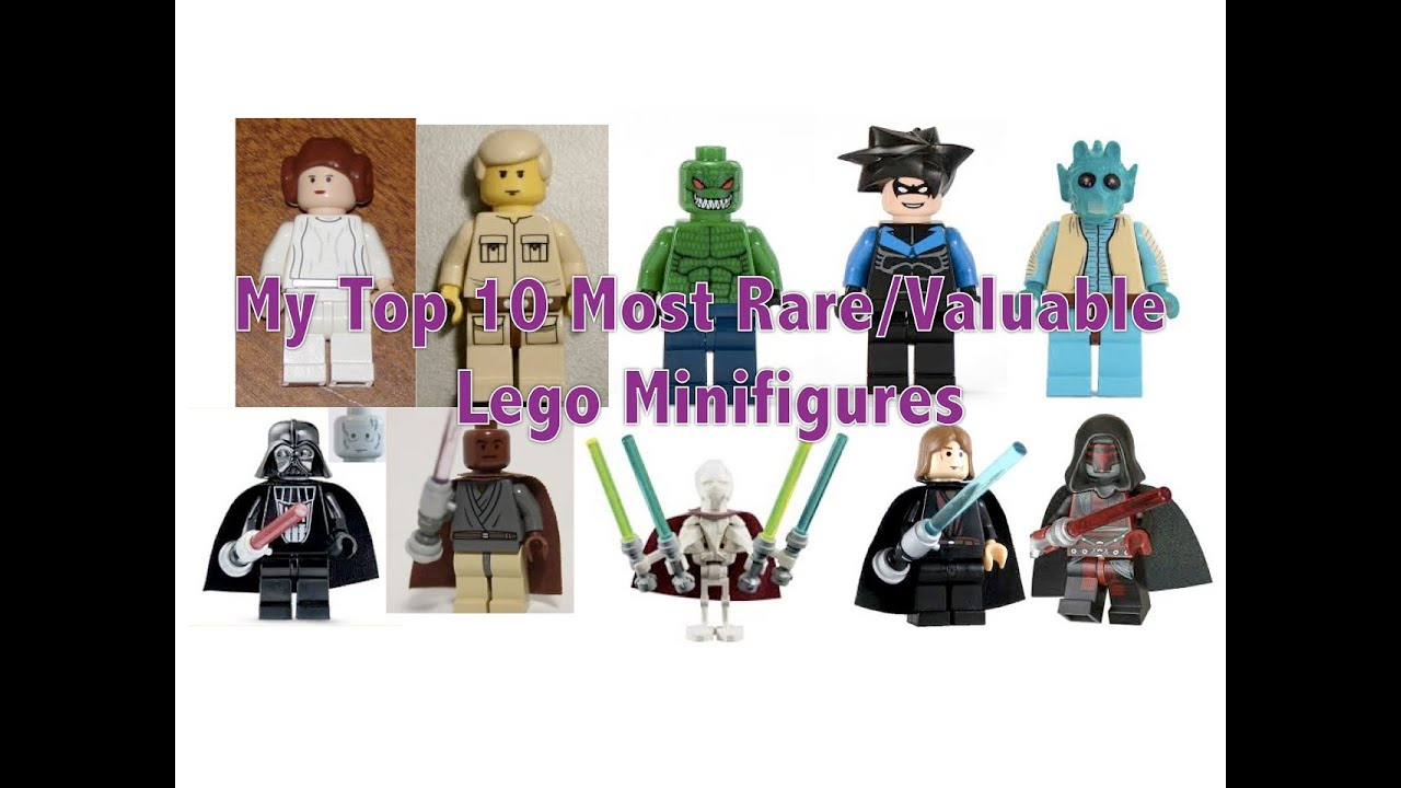 My top 10 most valuable rare lego minifigures youtube
