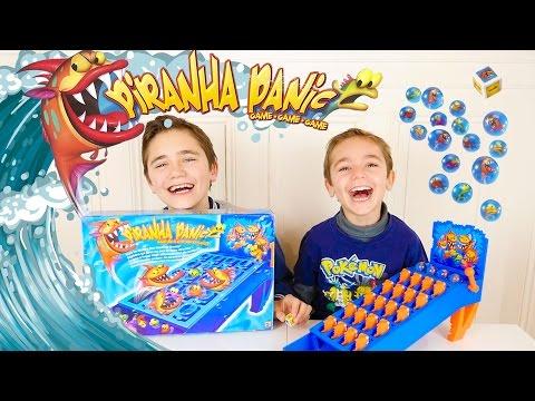 JEU - PIRANHA PANIC ! Des piranhas affamés prêts à attaquer 😱  - Jeu de société