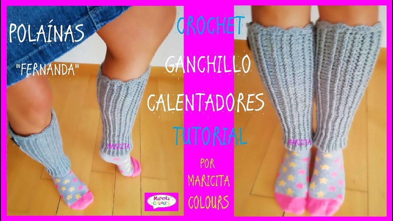 Calentadores a Crochet Polainas \