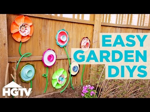 3 Upcycled DIY Garden Decorations   HGTV