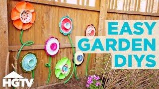 3 Upcycled Diy Garden Decorations Gardening Tips Hgtv Youtube