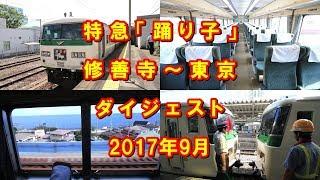 """特急「踊り子」 修善寺~東京 ダイジェスト Limited express """"Odoriko"""", from Shuzenji Station to Tokyo Station (2017.9)"""