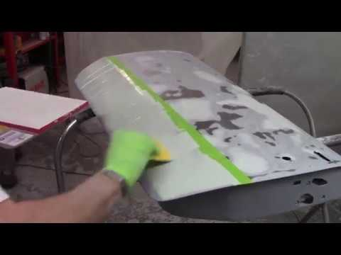 Epoxy Primer and Body Filler - Roundtail Restoration - LH Door, Boot Lid, Front Valance