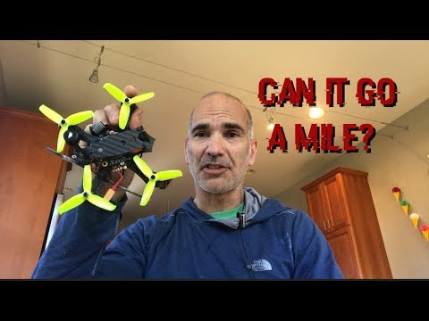 Can a 230 gram drone fly a mile and back?