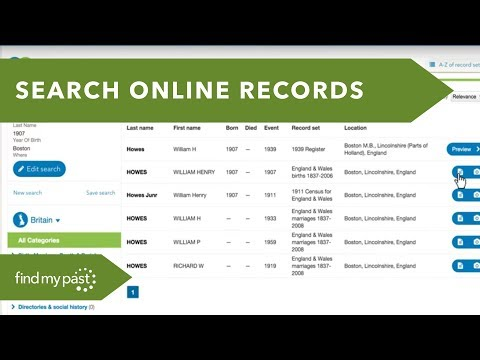 Trace Your Genealogy & Family Tree in Ireland, UK, USA and worldwide – Foyle Family History Centre from YouTube · Duration:  8 minutes 29 seconds