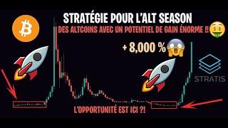 ÉNORME POTENTIEL SUR CES ALTCOINS 8000% DE GAIN POSSIBLE !! - Stratégie Bitcoin Cryptomonnaies #3