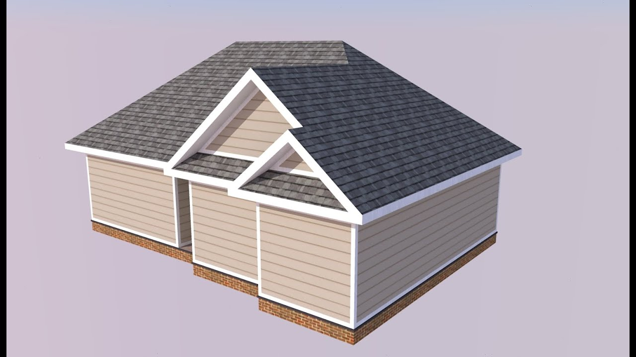 Sketchup Project House Model Roofing Tutorial Youtube