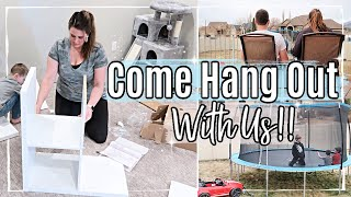HANG OUT WITH ME 2020 :: BUILDING IKEA FURNITURE + REAL TALK :: DITL OF A FAMILY OF 5
