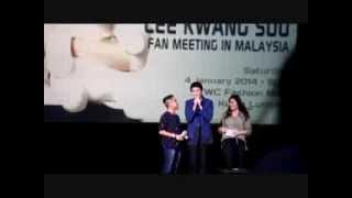 """Lee Kwangsoo Fan Meeting In Malaysia. (Kwangsoo Says """"Anda Comel!"""")"""