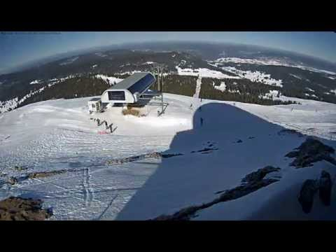 Les Rousses top of the skilift timelapse
