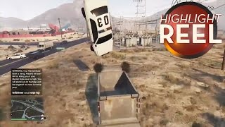 Highlight Reel #73 - GTA V Dump Truck Catches A Cop