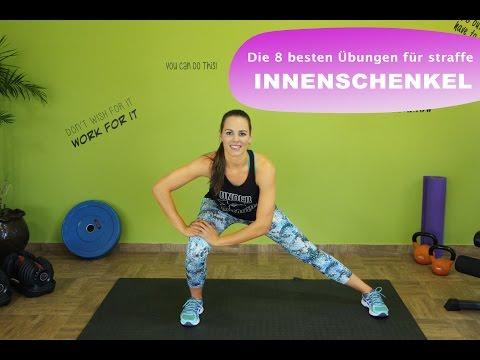 Die 8 besten Übungen für straffe Innenschenkel / Anti - Cellulite / Training Zuhause