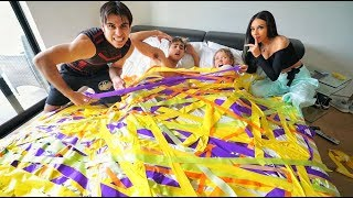 INSANE DUCT TAPE PRANK ON COUPLE!