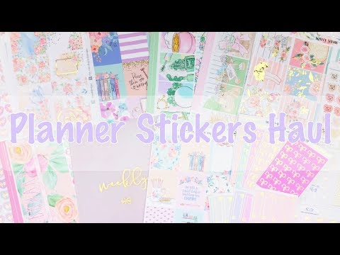 Planner Stickers Haul