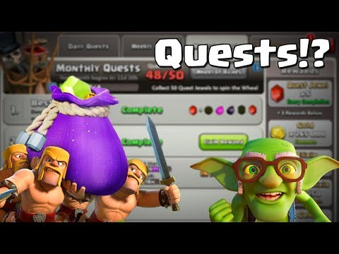 Clash of Clans Huge Winter Update - QUESTS?! | CoC Christmas Update Leak - Starts with a Q!