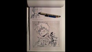 Speed Drawing Bakugou Katsuki (Boku No Hero Academia/My Hero Academia 僕のヒーローアカデミア)