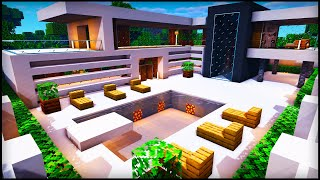 Minecraft Easy Modern House: How to build a Cool Modern House Tutorial