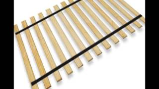 New King Size Custom Width Replacement Bed Slats With Black Webbing Strapping � Choose Your Needed