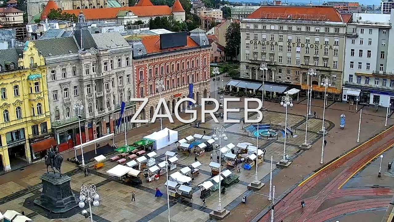 Zagreb Ban Jelacic Main Square Webcam Zagreb Live Livecamcroatia Explore Croatia