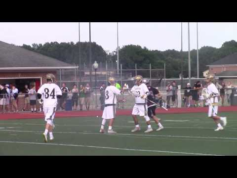 Salesianum middie #3 Michael Drake with a blistering shot passed the Appoquinimink goalie