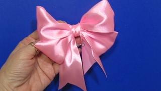Как Сделать Красивый Бант из Ленты Просто Быстро/How to make Hair Bow/Подарки Поделки своими руками