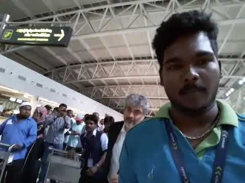 Ajith Kumar  At Chennai International Airport On Way To Bulgaria