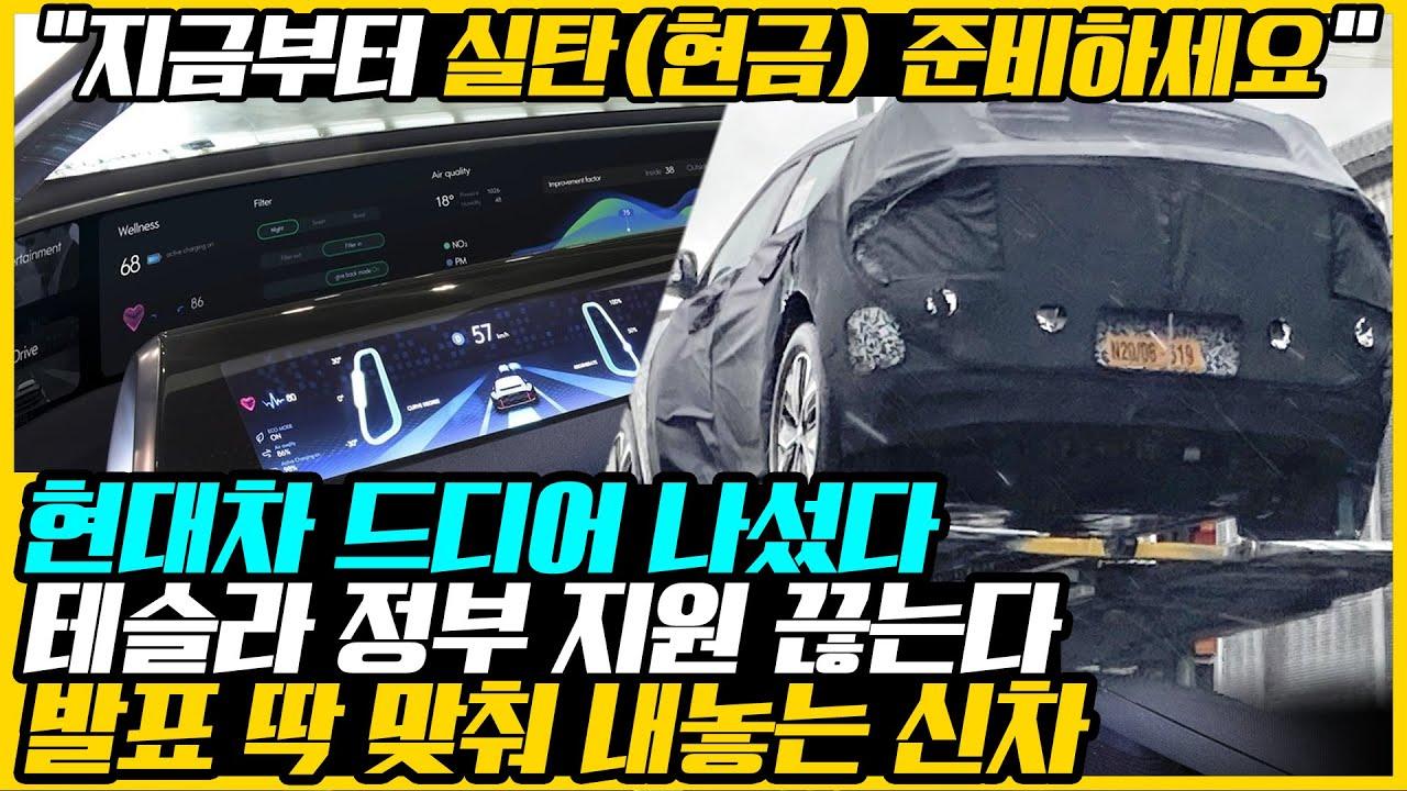 """""""한국에선 현대차 건드리지 마세요"""" 불티나게 팔리는 테슬라 모습에 배 아픈 현대차가 작심하고 내놓은 1호 신차 사진, 실물 공개되자 """"역수입해서라도 산다""""는 뜻밖의 네티즌 반응들"""