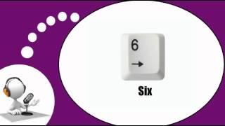Французского видео урок = Цифры от 1 до 9