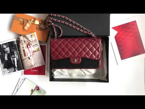 e77daef34b21 THE MODERNIST | Chanel Classic Jumbo Burgundy Caviar Double Flap Bag |  香奈儿经典款CF链条包
