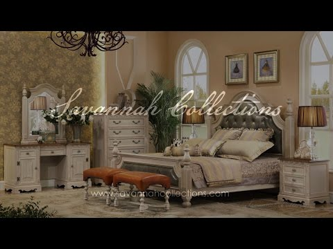 Victorian Bedroom Collection (Antique Almond) by Savannah Collections - Century Furniture