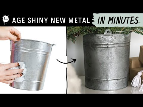 How to age Metal FAST - in 10 minutes - Plus Christmas tree from trimmings!